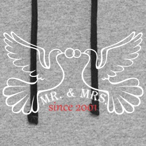 Mr And Mrs Since 2001 Married Marriage Engagement - Colorblock Hoodie