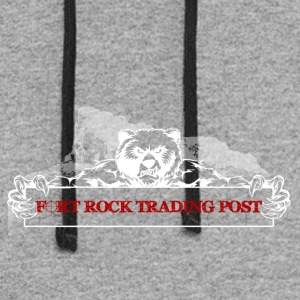 Fort Rock LOGO white red font - Colorblock Hoodie