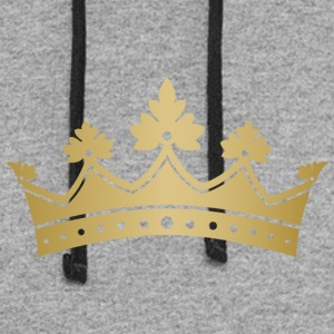 Royal golden crown monarch VIP vector art - Colorblock Hoodie
