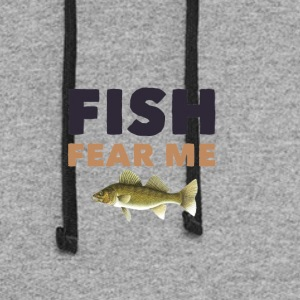 Fish Fear Me - Colorblock Hoodie