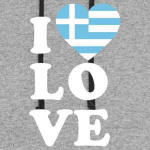 I love Greece - Colorblock Hoodie
