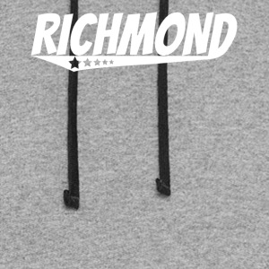 Richmond Retro Comic Book Style Logo - Colorblock Hoodie