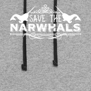 Save The Narwhals Shirt - Colorblock Hoodie