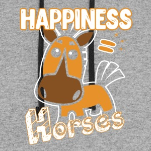 Horses Happiness T-shirt - Colorblock Hoodie