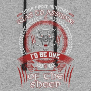 I'd Be One Of The Sheep Wolf Of Odin T-Shirt - Colorblock Hoodie