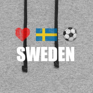 Sweden Football Swedish Soccer T-shirt - Colorblock Hoodie