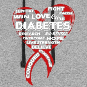 Love Diabetes Awareness Shirt - Colorblock Hoodie