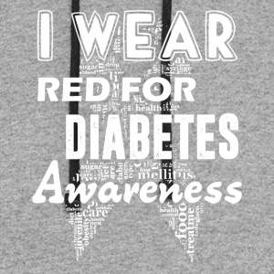 I Wear Red For Diabetes Awareness Shirt - Colorblock Hoodie