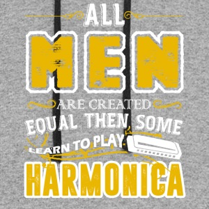Some Men Learn To Play Harmonica Shirt - Colorblock Hoodie