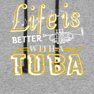 Life Is Better With Tuba Shirts - Colorblock Hoodie