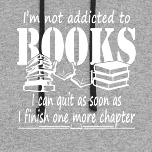 Addicted To Books Tee Shirt - Colorblock Hoodie