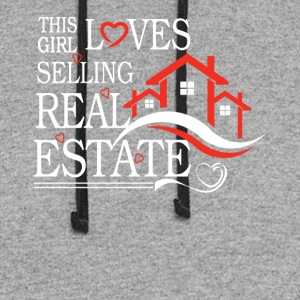 This Girl Loves Sellin Real Estate Shirt - Colorblock Hoodie