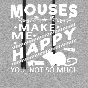 Mouse make me happy Shirt - Colorblock Hoodie