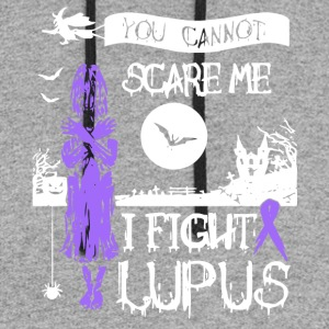 You Can't Scare Me I Fight Lupus T Shirt - Colorblock Hoodie