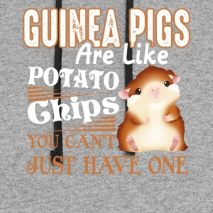 Guinea Pigs Like Potato Chips T Shirts Funny Gifs - Colorblock Hoodie