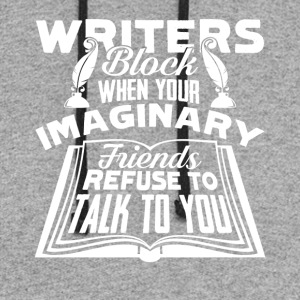 Writer's Block Tee Shirt - Colorblock Hoodie