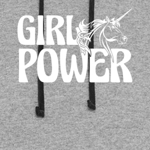 Unicorn Girl Power Shirt - Colorblock Hoodie