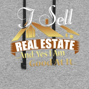Real Estate Agent Tee Shirt - Colorblock Hoodie