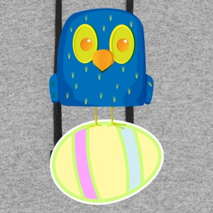 Hatching Easter Eggs, Hatching Plan, Funny Easter - Colorblock Hoodie