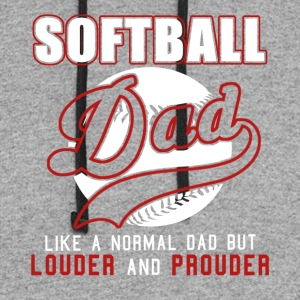 Softball Dad Like Normal Dad But Louder & Prouder - Colorblock Hoodie