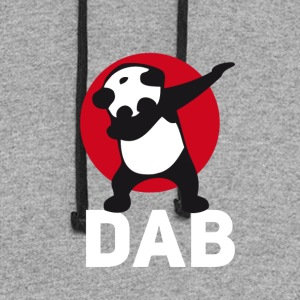 dab panda red DAB panda dabbing football touchdown - Colorblock Hoodie