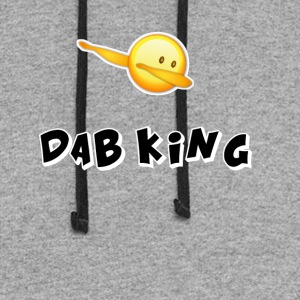 dab emojiiking dabbing football touchdown mooving - Colorblock Hoodie