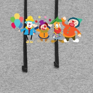 Cute Clowns Graphic Tee Shirt - Colorblock Hoodie