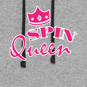 Spin Queen Cute Spin Class Tee Shirt - Colorblock Hoodie