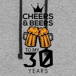 Cheers Beers To My Thirty Years Tee Shirt - Colorblock Hoodie