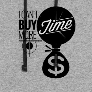 I Can't Buy More Time - Colorblock Hoodie