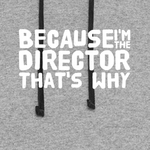 Because i'm the director that's why - Colorblock Hoodie