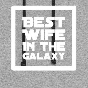 Best Wife In the galaxy - Colorblock Hoodie