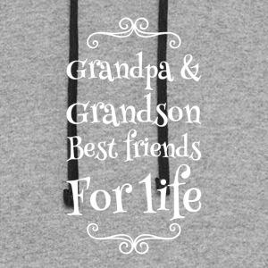 Grandpa and grandson best friends for life - Colorblock Hoodie