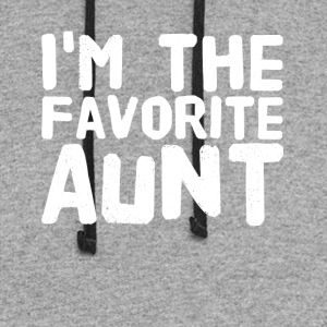 i'm the favorite aunt - Colorblock Hoodie