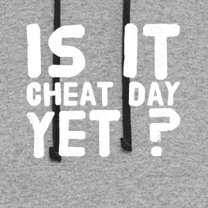 Is it cheat day yet ? - Colorblock Hoodie