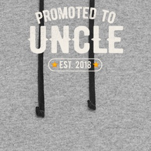 Promoted To Uncle 2018 - Colorblock Hoodie
