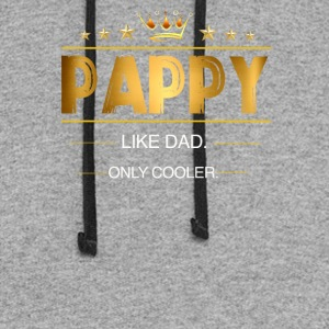 Pappy Like Dad Only Cooler - Colorblock Hoodie