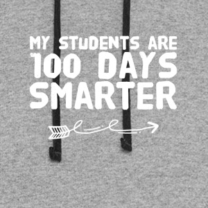 My students are 100 days smarter - Colorblock Hoodie