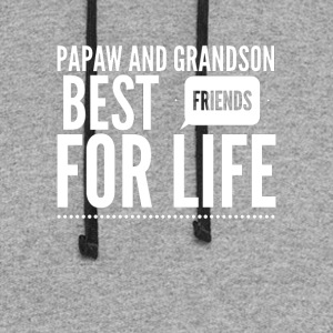 Papaw and grandson best friends for life - Colorblock Hoodie