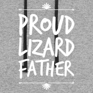proud lizard father - Colorblock Hoodie