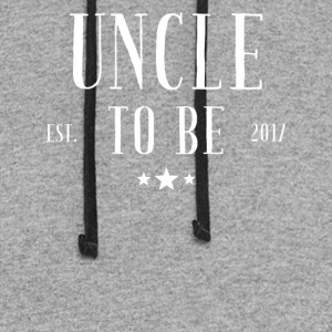 Uncle to be 2017 - Colorblock Hoodie