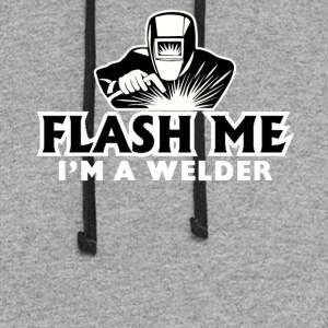 Flash ME I'm a Welder T-Shirt - Colorblock Hoodie
