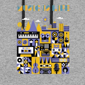 music is life shirt - Colorblock Hoodie