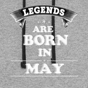 Legends Are Born in May T-Shirt - Colorblock Hoodie