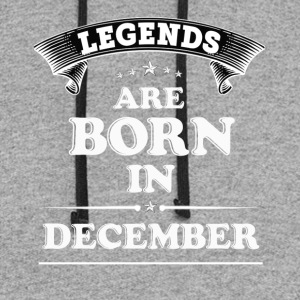 Legends Are Born in December T-Shirt - Colorblock Hoodie