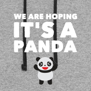 we are hoping it's a panda - Colorblock Hoodie