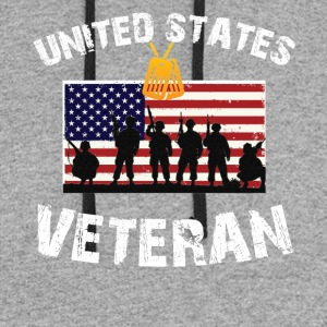 United States Veteran T-Shirt - Colorblock Hoodie