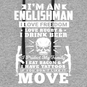 I'M AN ENGLISHMAN - LOVE RUGBY - Colorblock Hoodie
