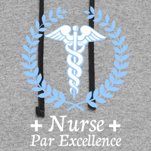 nurse par excellence - Colorblock Hoodie