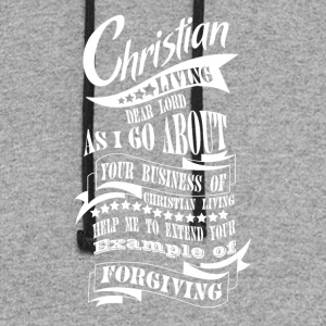 Christian Living Forgiving - Colorblock Hoodie